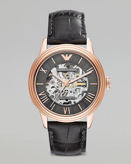Mechanical Watch, Gray/Rose