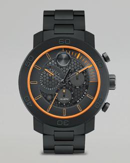 Movado Bold XL Bold Titanium Chronograph Watch, Black
