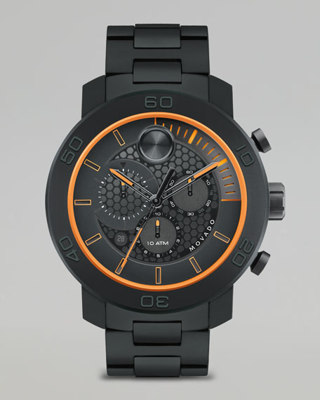 XL Bold Titanium Chronograph Watch, Black