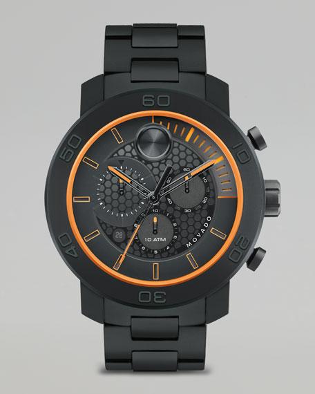XL Bold Titanium Chronograph Watch, Black