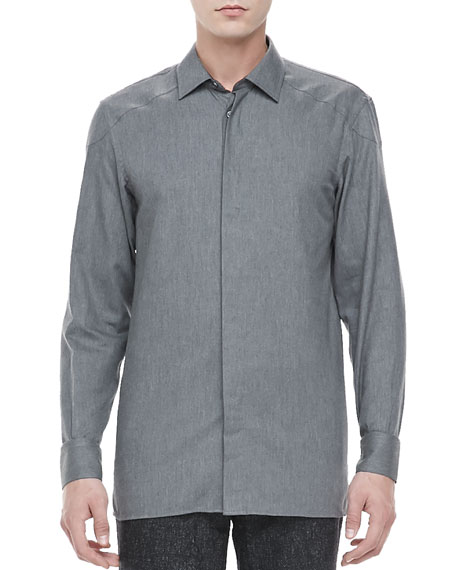 Rhodes Long-Sleeve Shirt, Slate Gray