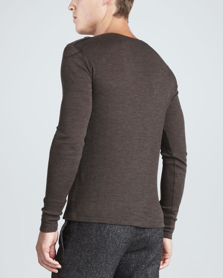 Leyburn Utility Henley Shirt, Antique Bronze