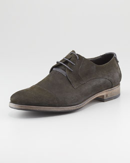 John Varvatos Dylan Brushed Cap-Toe Shoe