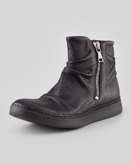 John Varvatos Print Leather High-Top, Black
