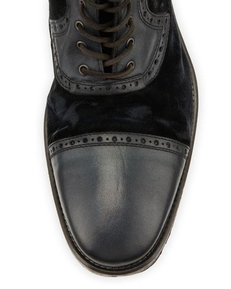 Fleetwood Leather/Velvet Boot, Black
