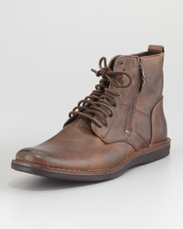John Varvatos Star USA Barret Lace-Up Side-Zip Boot