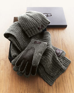 UGG Australia Hat, Scarf & Gloves Box Set, Gray