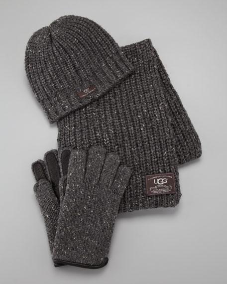 Hat, Scarf & Gloves Box Set, Gray