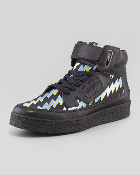 Kenyon Laser-Print High-Top Sneaker
