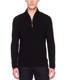 Michael Kors  Front-Zip Sweater