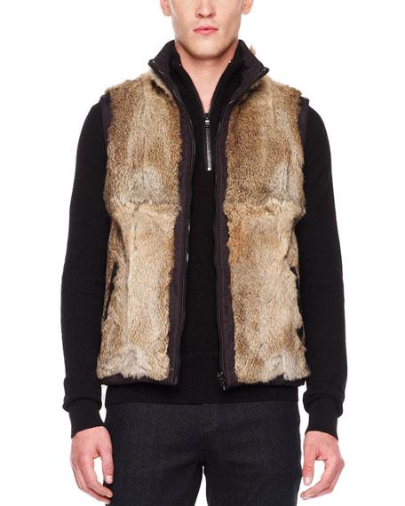 Reversible Fur/Nylon Vest
