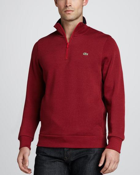 Half-Zip Sweatshirt, Red
