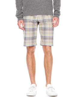 Michael Kors Plaid Chino Shorts