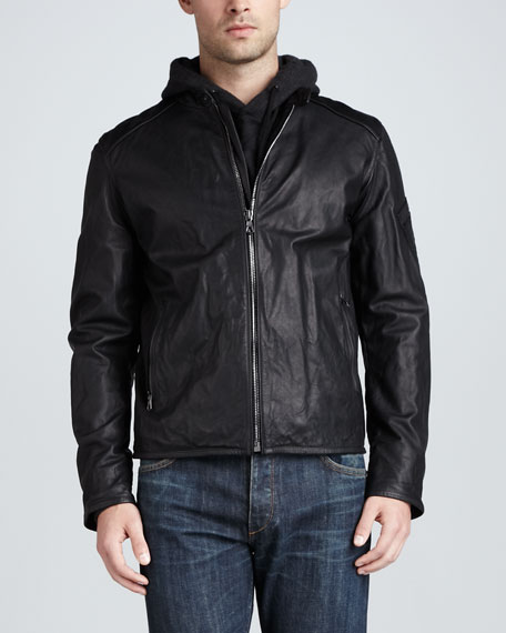 Macclesfield Leather Jacket, Black