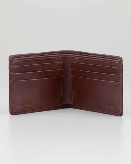 Check-Embossed Hipfold Wallet
