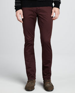 John Varvatos Star USA Double Dyed Bowery Jeans, Garnet