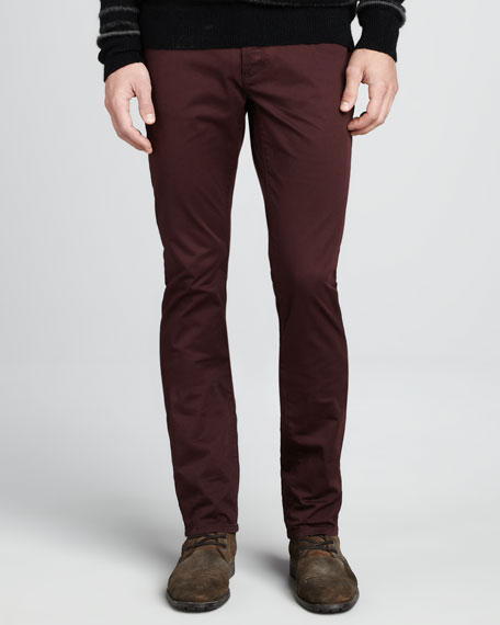 Double Dyed Bowery Jeans, Garnet