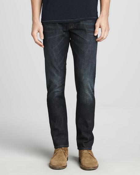 Authentic Vintage-Wash Jeans, Eclipse