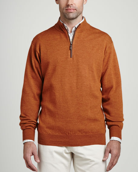 Merino 1/4-Zip Pullover Sweater, Foliage