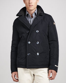 Peter Millar Bergamo Double-Breasted Coat, Navy