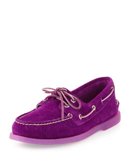 Sperry Top-Sider Authentic Original Suede Slip-On, Purple