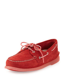 Sperry Top-Sider Authentic Original Suede Slip-On, Red
