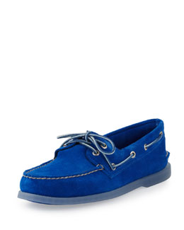Sperry Top-Sider Authentic Original Suede Slip-On, Blue