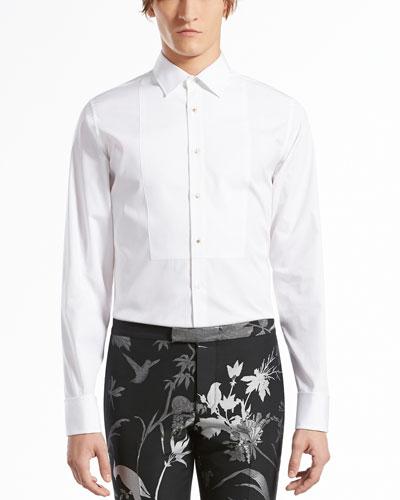 Gucci Cotton-Poplin Evening Shirt, White