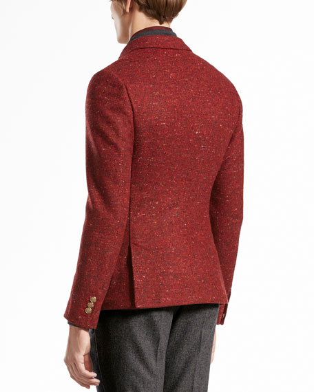 Tweed Duke Jacket, Red