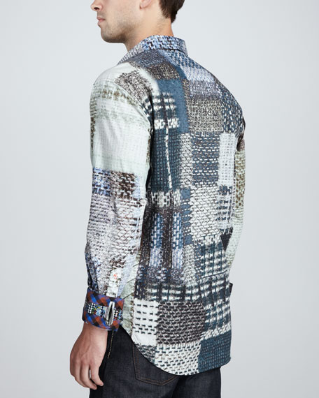 Rod Abstract Patch-Print Shirt