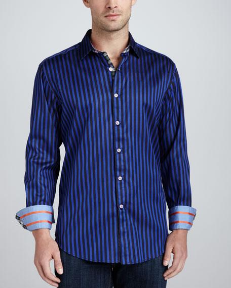 Balik Striped Sport Shirt, Navy
