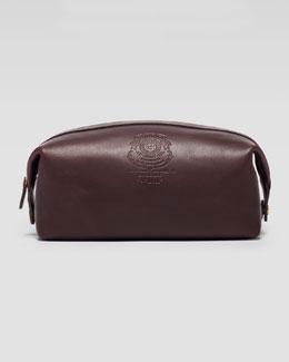 Ghurka Leather Toiletry Kit, Dark Brown