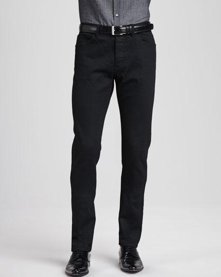 5-Pocket Denim Jeans, Black