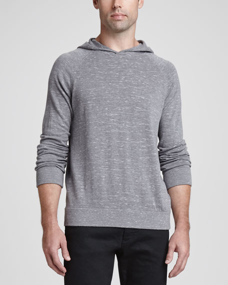Sanders PH Slubby Hooded Sweater, Gray