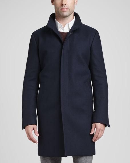 Belvin Wool/Cashmere Blend Coat, Navy