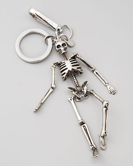Silvertone Skeleton Key Chain