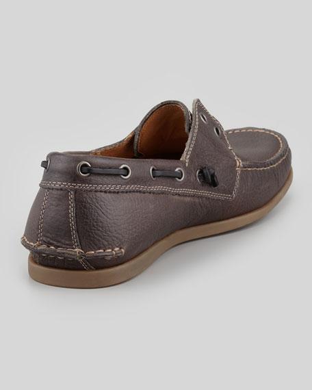 John Varvatos Schooner Boat Shoe Dark Brown