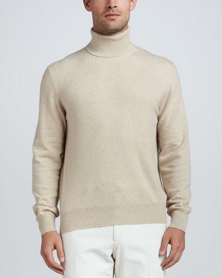 Dolce Vita Cashmere Turtleneck Sweater, Natural