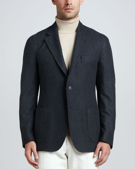Cashmere Two-Button Blazer