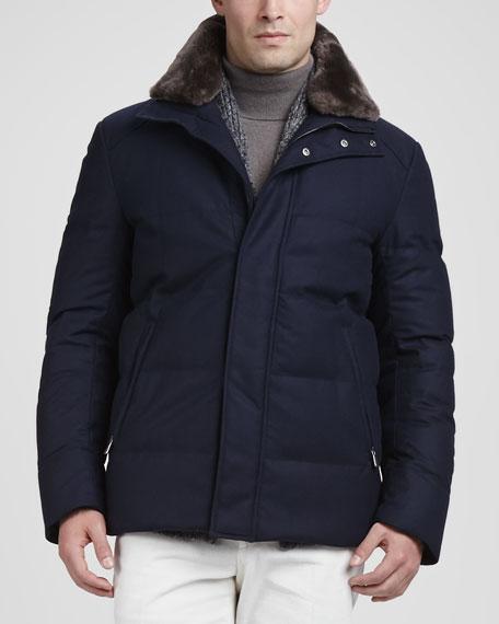 Storm Baby Cashmere Soft Jacket, Navy