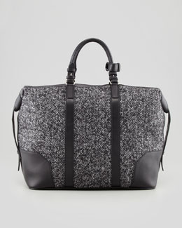 Dsquared2 Men's Herringbone Weekender Bag, Gray
