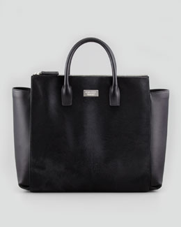 Dsquared2 Calf Hair Tote Bag, Black