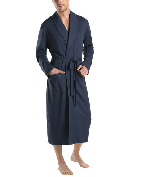 Hanro Night & Day Knit Robe, Black Iris