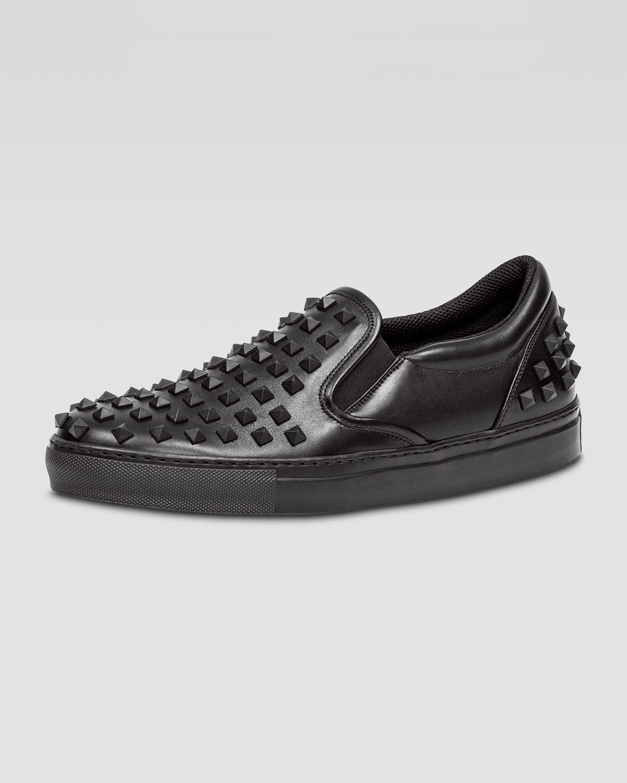 9a8a6a03f22d Valentino Rockstud Men s Slip-On Sneaker