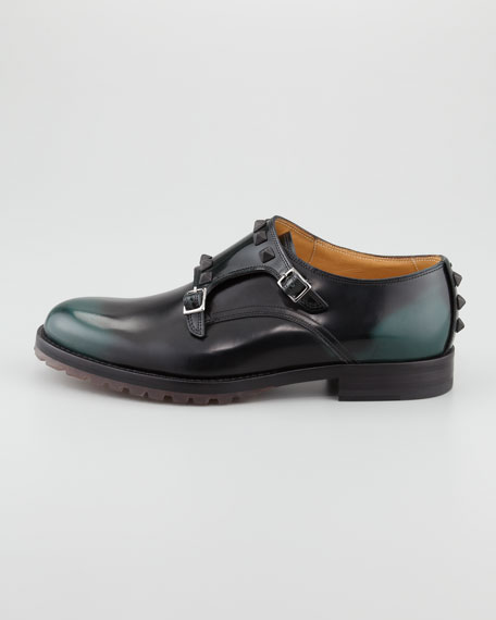 Studded Double-Monk Shoe