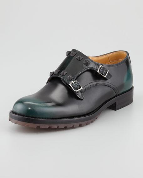 Studded Double-Monk Shoe