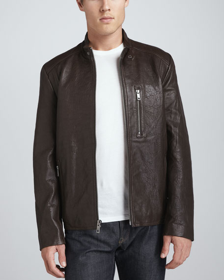 Madden Leather Moto Jacket, Espresso