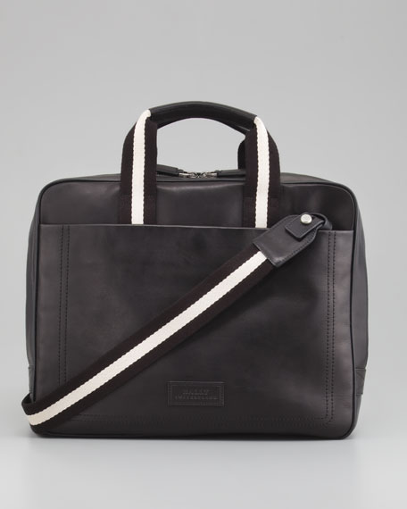 Trainspotting Zip-Around Briefcase, Black