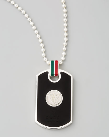 Dog-Tag Necklace with Web Detail