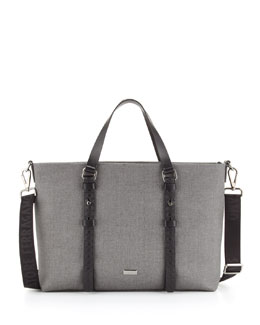 Salvatore Ferragamo Men's New Form Tote Bag, Gray